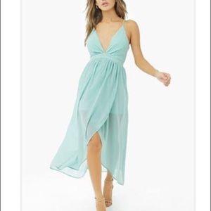 NWT Mint Chiffon High-Low Dress